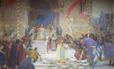 Coronation of Dušan as Tsar of Serbia, 1346