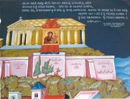Byzantine depiction of Athens