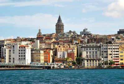 District of Pera, Constantinople with the Galata Tower built by the Genoese