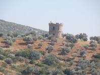Venetian castle tower in Euboea, Greece