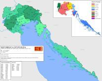 Venetian territory in Italy and Croatia
