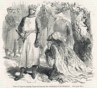 Isaac Komnenos surrenders Cyprus to Richard I of England, 1191