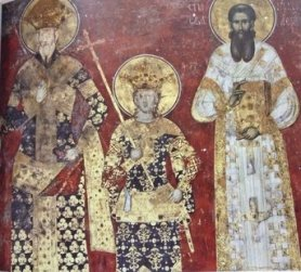 Serbian art depicting their nobility's fashion, inspired by Byzantium