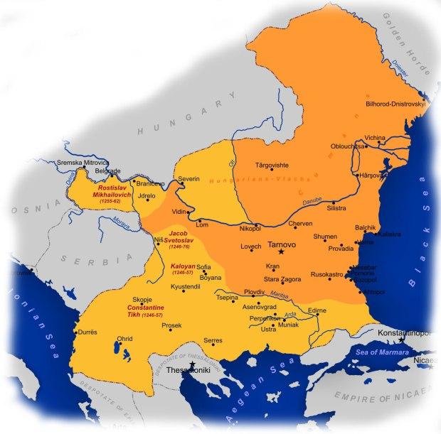 Second_Bulgarian_Empire_1241-1256