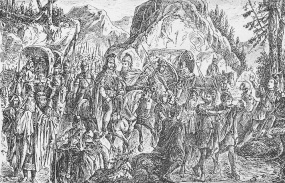 The unknown Serb Archon leads the Slavs into Serbia, 7th century