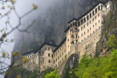Sumela Monastery, in the mountains near Trebizond