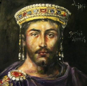 Emperor Justinian I (r. 527-565), born Flavius Petrus Sabbatius