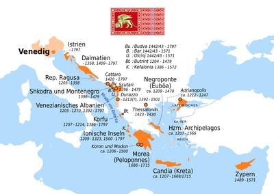 Map of all Venetian possessions
