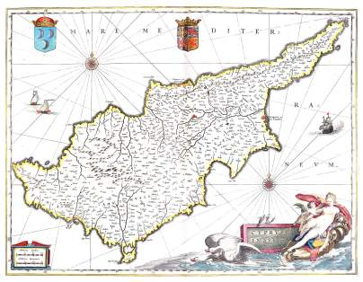 Map of medieval Cyprus