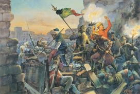 Ottoman army and Janissaries break into Constantinople, May 29, 1453