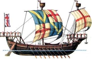 Genoese war ship