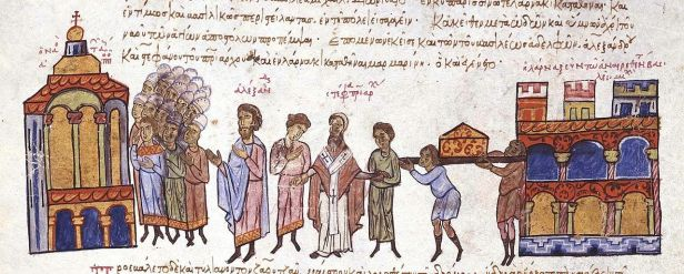 Leo VI orders Michael III's tomb moved, 886