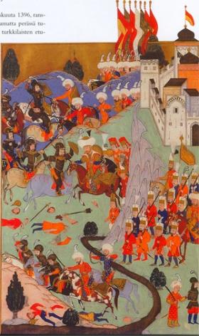 Ottoman depiction of the Battle of Nicopolis