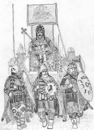 Triumphal procession of co-emperor Michael VIII Palaiologos
