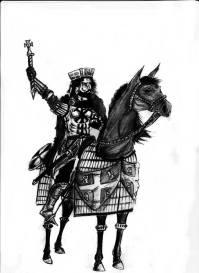 Drawing of John II on his horse