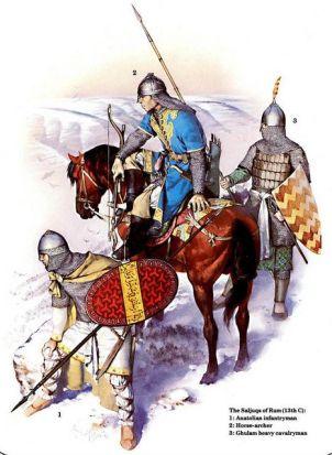 Byzantine Christian mercenaries in the army of the Seljuk Sultan of Rum