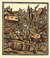Illustration of a Constantinople earthquake
