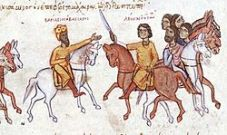 Basil I on a hunt with his son Leo
