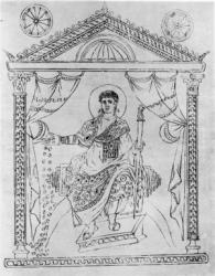 Emperor Constantius II of Byzantium (r. 337-361), son of Constantine I
