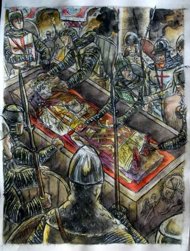 4th Crusade army loots Justinian I's tomb