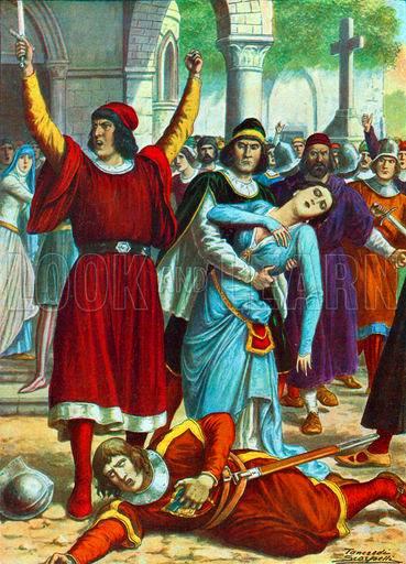 Real life Giulia in the Sicilian Vespers, 1282