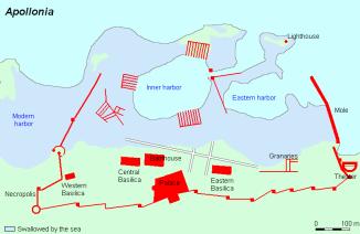 Map of the tsunami's devastation in Libya, North Africa