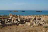 Harbor in Crete destroyed by the 365 earthquake and tsunami