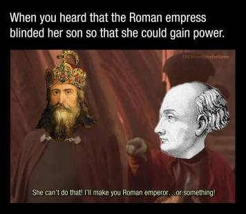 Meme of Charlemagne and Irene