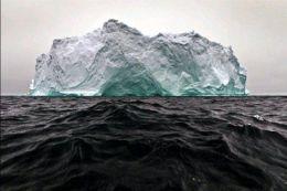 Iceberg floating at the Black Sea
