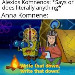Meme of the Anna Komnene's Alexiad