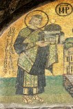 Mosaic of Justinian in the Hagia Sophia
