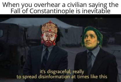 Meme of Constantine XI and Giovanni Giustiniani