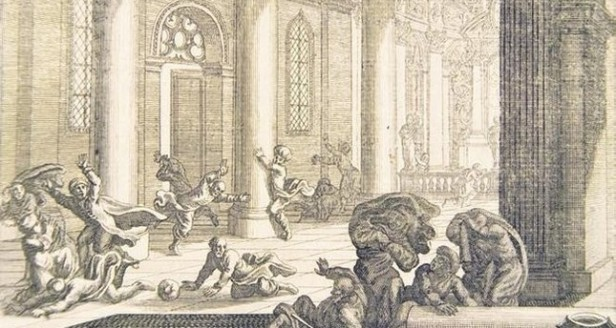 People during the 557 Constantinople Earthquake seeking refuge