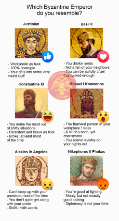 Personalities of 6 Byzantine emperors