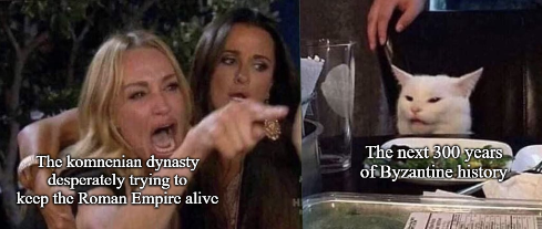 Meme of the Komnenian Restoration and the aftermath of it