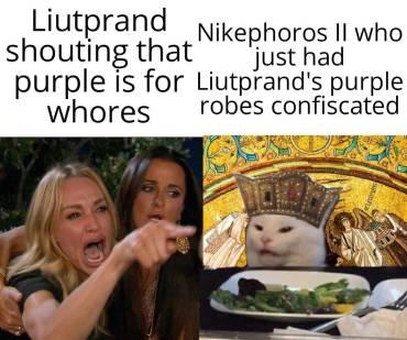 Meme of Liutprand of Cremona and Nikephoros II Phokas
