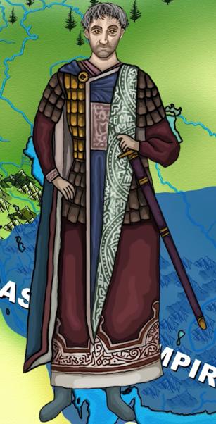 Byzantine Emperor Justin I (r. 518-527), former member of the Excubitors