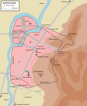 Map of Roman/ Byzantine Antioch