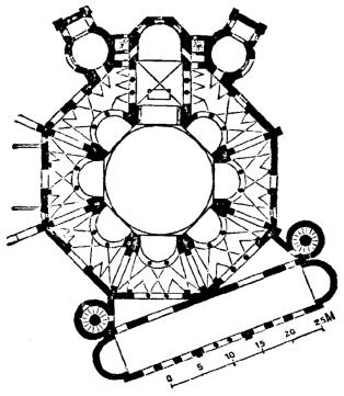 Diagram of Constantine the Great's Domus Aurea in Antioch