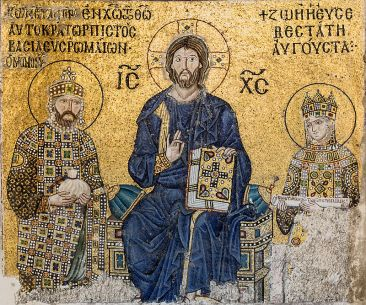 Mosaic of Emperor Constantine IX and Empress Zoe