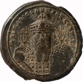 Romanos I coin with sons Stephen and Constantine Lekapenos