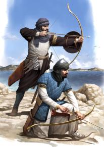 14th century Byzantine archer guards
