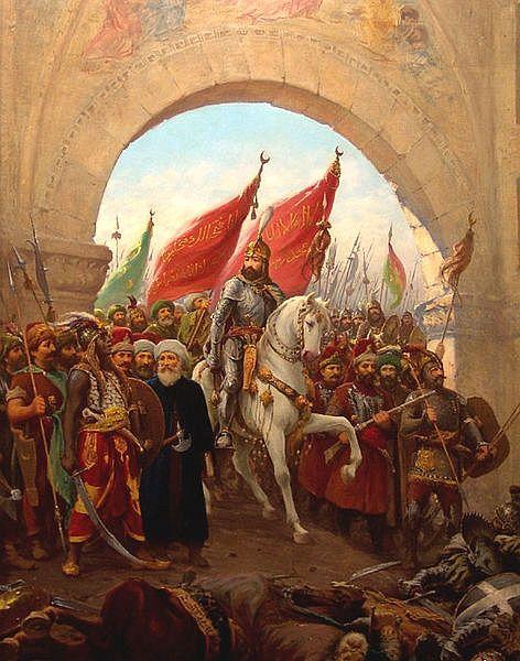 Sultan Mehmed II enters, 1453