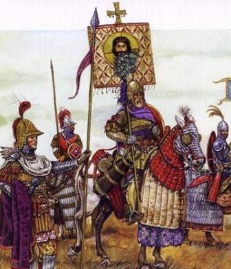 Heraclius and Byzantines winning the war against Persia