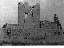 Earthquake damage in the Walls of Theodosius II