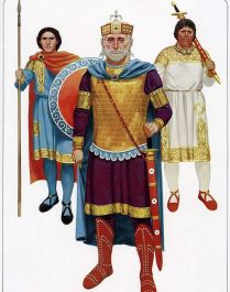 Basil II the Bulgar-Slayer in military attire
