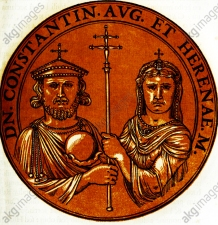 Constantine VI (r. 780-797) and his mother Irene of Athens