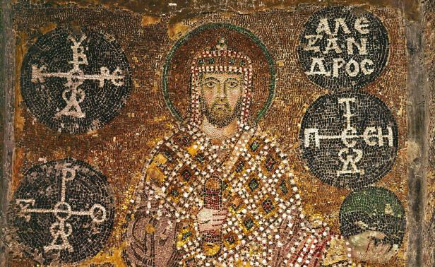 Byzantine emperor Alexander (r. 912-913), son of Basil I and brother of Leo VI
