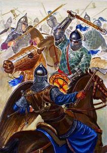Byzantines battle the Pechenegs at Levounion, 1091