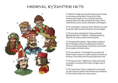Byzantine hat variants with John VIII (D)